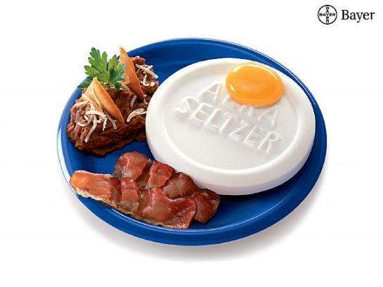Alka Seltzer Print Ad -  Eggs