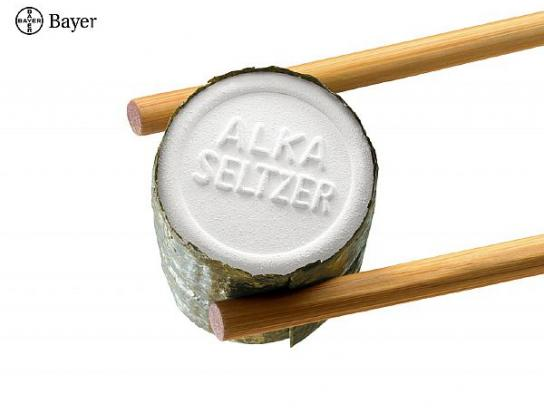 Alka Seltzer Print Ad -  Sushi