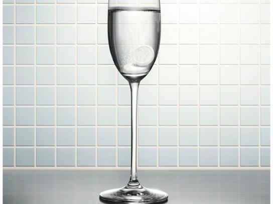 Alka Seltzer Print Ad -  Champagne