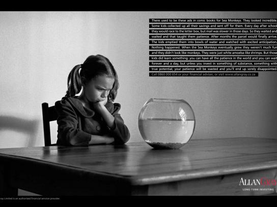 Allan Gray Print Ad -  Lessons from Childhood, Sea Monkeys