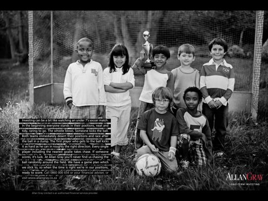 Allan Gray Print Ad -  Lessons from Childhood, Soccer