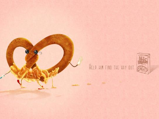 All Bran Print Ad -  Pretzel