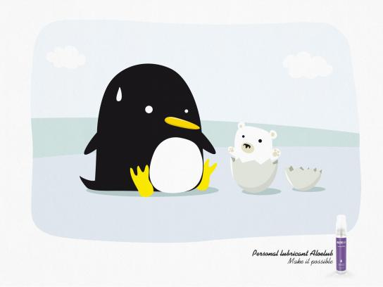 Aleolub Print Ad -  Penguin
