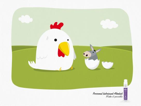 Aleolub Print Ad -  Chicken