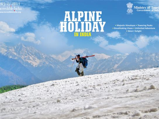 Incredible India Print Ad -  Alpine Holiday