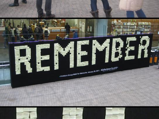 Alzheimer's Society Outdoor Ad -  Memory Wall