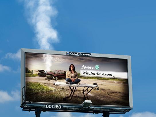 Avera Outdoor Ad -  Smoking billboard