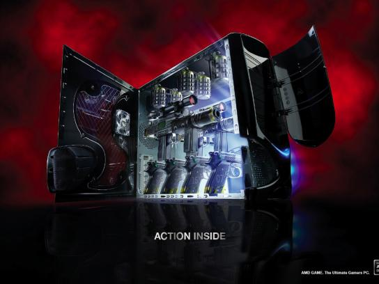 AMD Game Print Ad -  Guns
