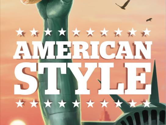 American Style Outdoor Ad -  Statue, 1