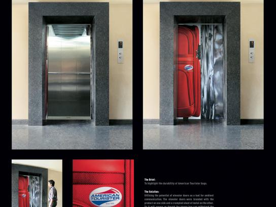 American Tourister Ambient Ad -  Tough luggage