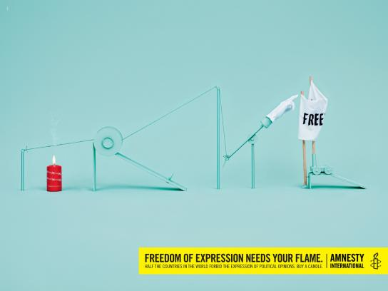 Amnesty International Print Ad -  Freedom of expression, 1