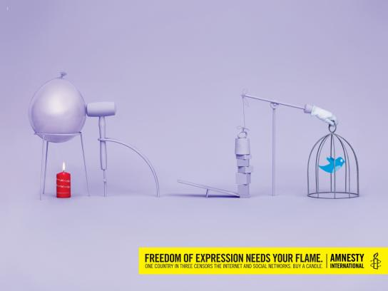 Amnesty International Print Ad -  Freedom of expression, 2