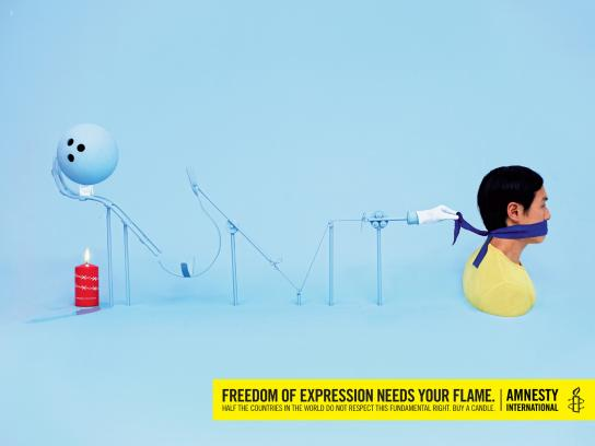 Amnesty International Print Ad -  Freedom of expression, 3