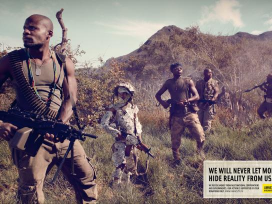 Amnesty International Print Ad -  Child Soldiers