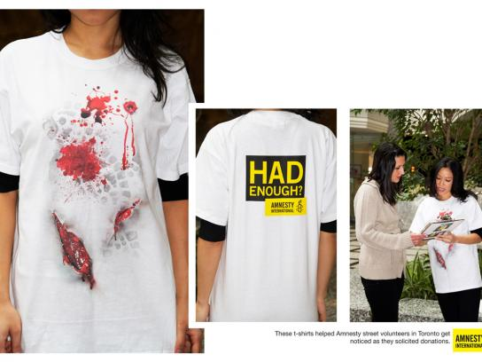 Amnesty International Ambient Ad -  Had Enough?