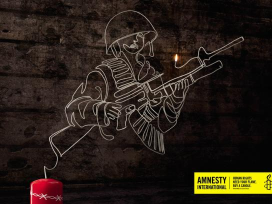 Amnesty International Print Ad -  Child soldier