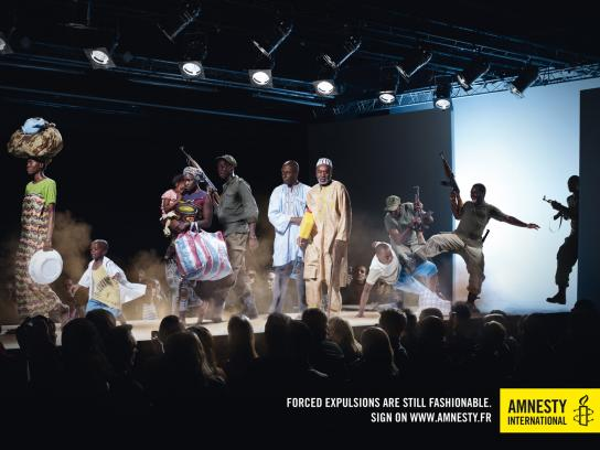 Amnesty International Print Ad -  Fashion, Expulsion
