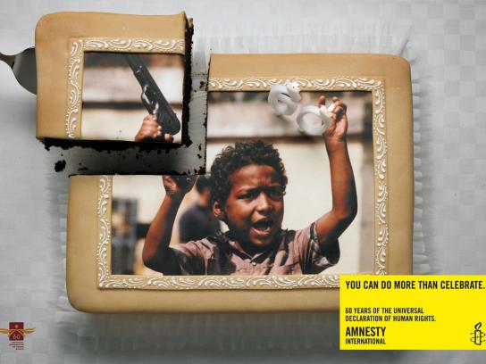 Amnesty International Print Ad -  Cake, 1