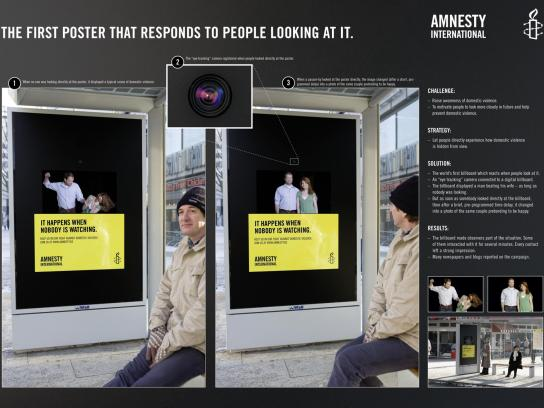 Amnesty International Ambient Ad -  Eye tracking
