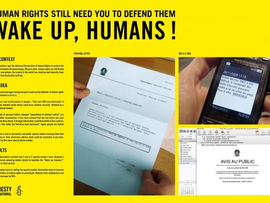 Amnesty International Direct Ad -  Wake Up Humans