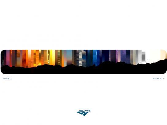 Amtrak Print Ad -  Nightscape