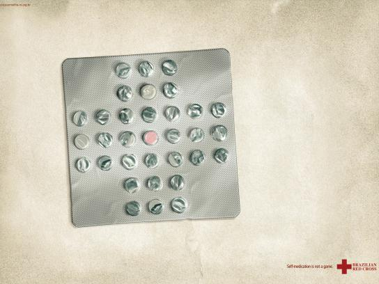 Red Cross Print Ad -  Pill