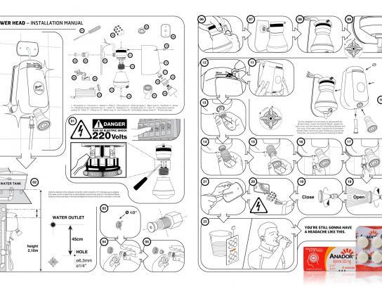 Anador Print Ad -  Manual, Shower Head
