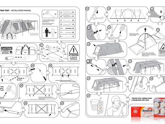 Anador Print Ad -  Manual, Tent