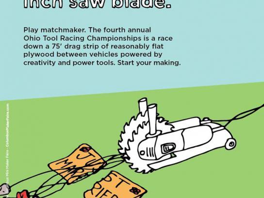 Ohio Tool Racing Championships Print Ad -  Angle Grinder