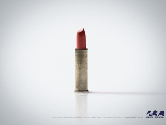 Animal Liberation Print Ad -  Lipstick