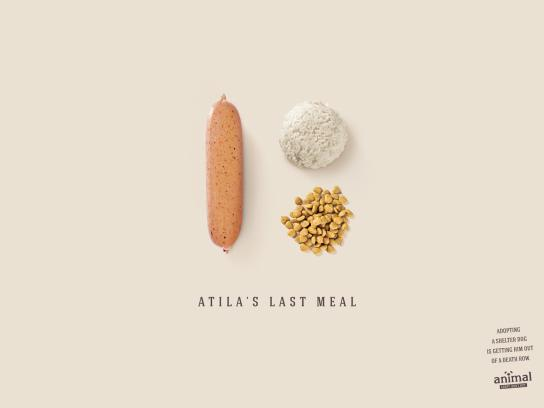 Animal Print Ad -  Atila's Last Meal