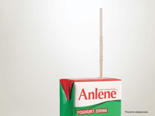 Anlene Print Ad -  Straw