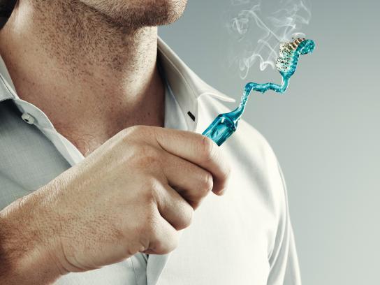 Sanofi Print Ad -  Toothbrush