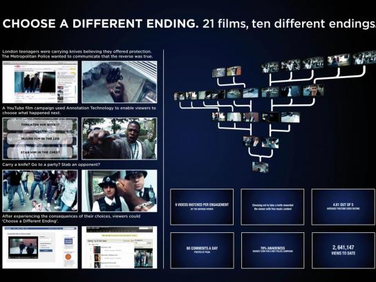 The Metropolitan Police Digital Ad -  Anti-Knife Crime Campaign, Choose a different ending