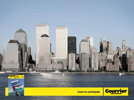 Courrier Print Ad -  9-11