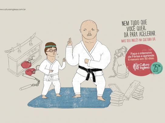 Cultura Inglesa Print Ad -  Intensive English Course, Judo