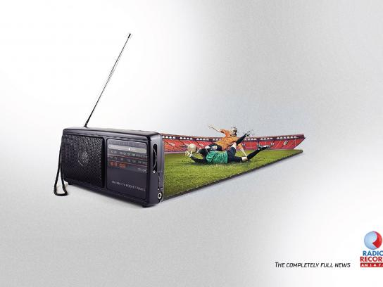 Rádio Record Print Ad -  Football