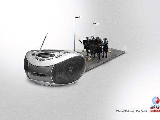 Rádio Record Print Ad -  Protest