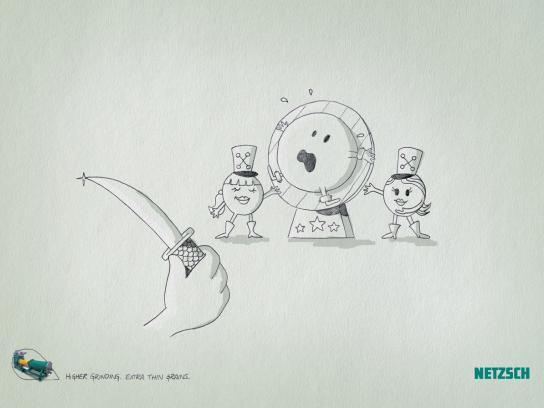 Netzsch Grinding Print Ad -  Circus