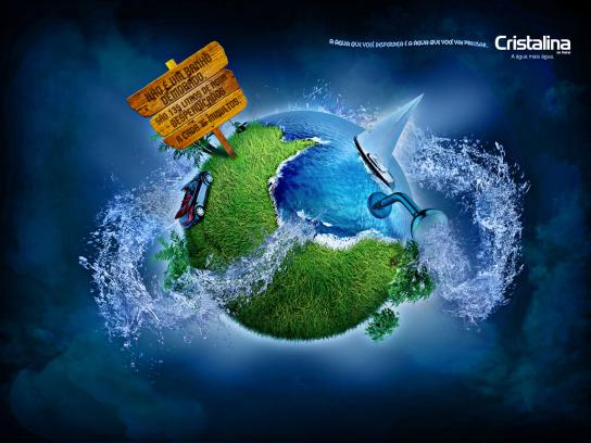 Cristalina Print Ad -  Waste, Shower