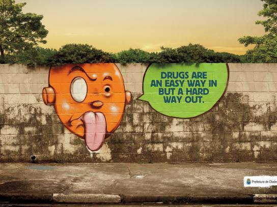 Diadema City Outdoor Ad -  Drugs, 1