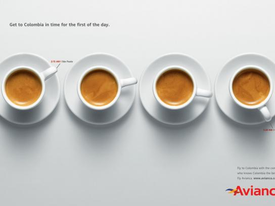 Avianca Print Ad -  Coffee, 2