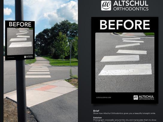 Altschul Orthodontics Ambient Ad -  Crosswalk