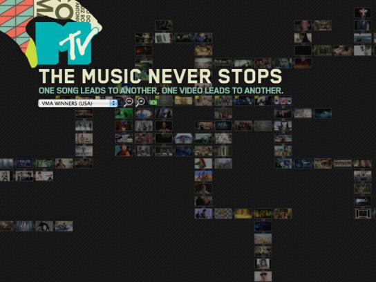 MTV Digital Ad -  The Music Never Stops