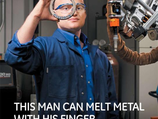 GE Print Ad -  Melt metal