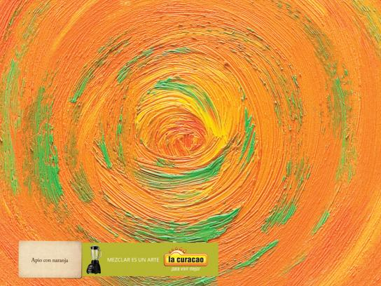 La Curacao Print Ad -  Celery with Orange