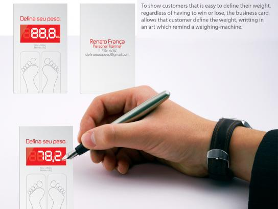 Renato França Direct Ad -  Define your weight business card