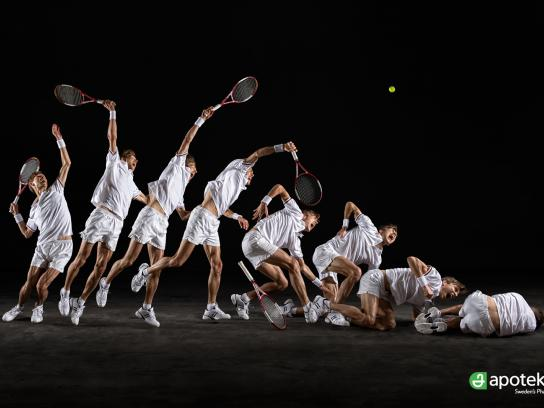Apoteket Print Ad -  Injured Athletes, Tennis