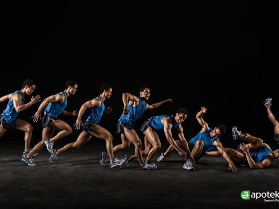 Apoteket Print Ad -  Injured Athletes, Running