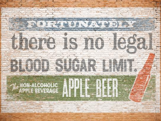 Apple Beer Print Ad -  Blood Sugar